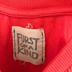 LF Tops - LF Furst of a Kind Red Muscle Tank Top Cutoff A2